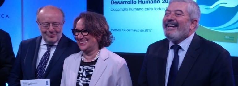 Fernando García Casas, Rebeca Grynspan y Magdy Martínez-Solimán. / ANCI.