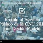 [:es]Madrid recibe el Premio al Servicio Público de la ONU 2018 por Decide Madrid[:]