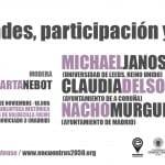 Michael Janoschka, Nacho Murgui y Claudia Delso dialogan sobre participación ciudadana y transformaciones urbanas