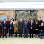 Felipe VI recibe al Comité Organizador del II Foro Mundial sobre Violencias Urbanas y Educación para la Convivencia y la Paz