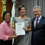 El Gobierno de Brasilia condecora a Maria Paula Fidalgo por su labor como embajadora de la paz en todo el país