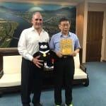 El alcalde de Tegucigalpa recibe la llave de la ciudad de Taipéi