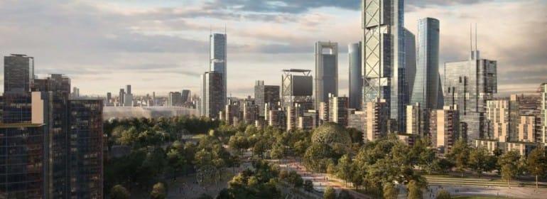 GRAF064. MADRID, 29/07/2019.- Recreación virtual de una de las zonas del proyecto urbanístico Madrid Norte, conocido como Operación Chamartín, que renovará el horizonte de rascacielos de Madrid con la torre más alta de España. El Ayuntamiento ha aprobado este lunes por unanimidad el proyecto después de dos décadas de bloqueo. EFE/Ayuntamiento de Madrid/SOLO USO EDITORIAL