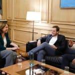 Christian di Candia finaliza su visita a España tras reunirse con Ada Colau y Emilia Saiz