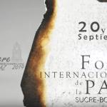 Vídeo resumen del Foro Internacional de la Paz 2019 celebrado en Sucre