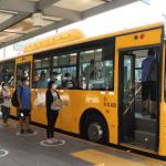 Municipalidad de Lima inicia demarcación en terminales del metropolitano para distanciamiento entre usuarios
