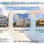 """Seminario Web UCCI: """"Las Haciendas locales ante la crisis de la Covid-19"""""""
