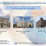 """Seminario Web UCCI: """"Economía y Comercio en las capitales iberoamericanas tras la Covid-19"""""""