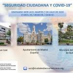 """Nuevo seminario Web UCCI: """"Seguridad ciudadana y Covid-19"""""""