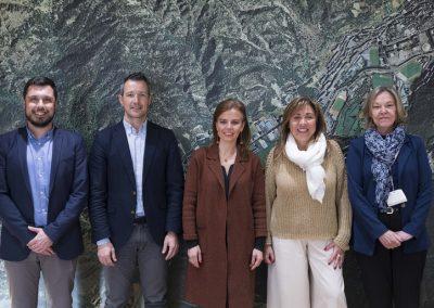 Encuentro Secretaria General, Almudena Maíllo y Cónsul Major, Conxita Marsol Riart (Andorra La Vella, 2020)