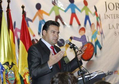 Inauguración del encuentro internacional 'Ciudad accesible' (La Paz, 2017)