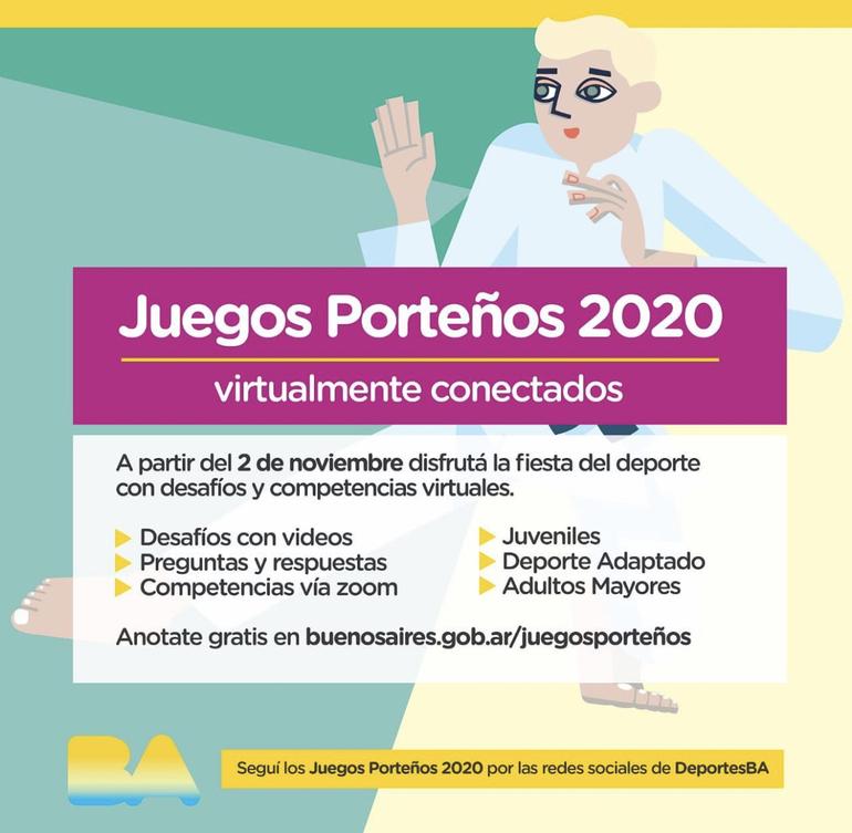 Buenos Aires Abre Las Inscripciones Para Los Juegos Portenos Virtuales 2020 Ucci