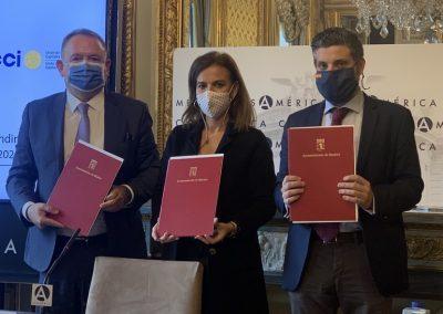 Firma de Memorando de Entendimiento entre UCCI, FIJE y CEIB (Madrid, 2020)